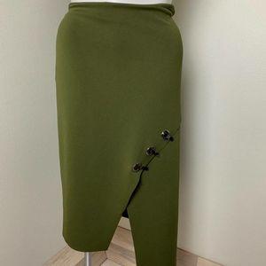 Worthington Green Mid-Length Skirt Size 16 W